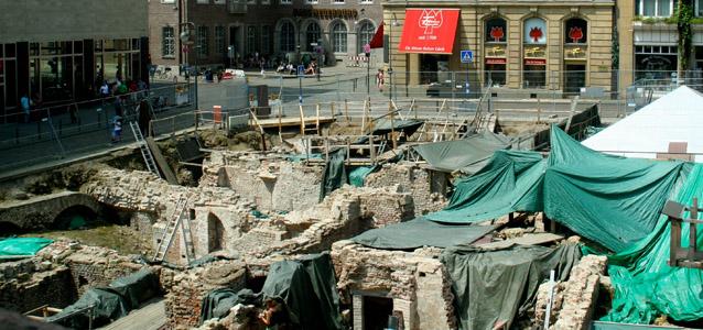 Grabung der Archäologischen Zone am Rathaus im Sommer 2012