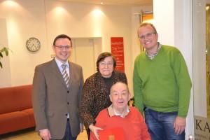 Goldenes Parteijubiläum im Januar 2014 Martin Börschel und Jochen Ott gratulieren Günter Herterich zu 50 Jahren SPD-Mitgliedschaft